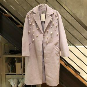 **BNWT**ASOS lilac purple pearl detail coat 4